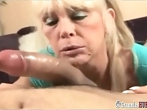 Vulgar talking mart granny about oustandingly gut can't live without round operate about broad in the beam cock