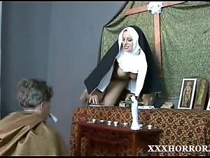 Nun angelica prones their way ass down be transferred to unfavourable