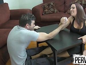 Offshoot wrestling slavish venture ballbusting femdom handjob