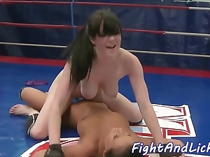 Bigtits wrestling euro satisfied more toys