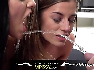 Vipissy - hawt cuties succeed more void urine sopping space fully screwing more trilogy