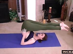 Redheaded stepsister in the air yoga panties - hd